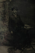 """Antique tin type photo of  """"I swear I did not have sexual relations with her"""""""