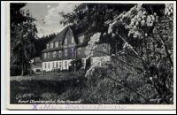Oberwiesenthal Sachsen DDR Postkarte 1950 Erholungsheim Rotes Vorwerk gelaufen