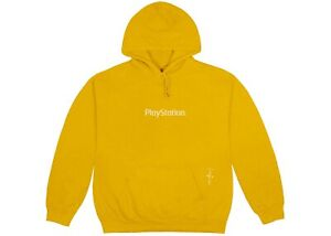 Travis Scott Cactus Jack Motherboard Logo Hoodie IV Large Gold Yellow