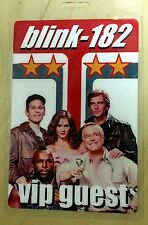 BLINK 182 V.I.P. GUEST LAMINATE - 2001 - THE A-TEAM - TOM DeLONGE -  ULTRA RARE!