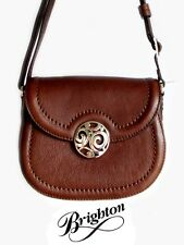 "Brighton ""London Groove"" Chocolate Leather Pouch - Small Handbag - New - $175"