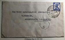 1945 Madras India Civil Censorship Cover To Waynesboro PA USA