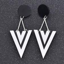 Acrylic Fashion Geometric Earrings Ear Stud Black White Contrast Color for Women