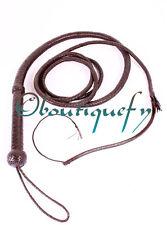 Indiana jones bull whip hunter marron véritable vachette cuir 10 pied long fouet