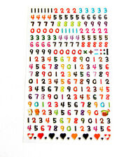 Small Coloured Numbers Stickers for Childrens Craft & Card - RCL7024