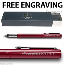 Parker Vector Fountain Pen Red Medium Nib Gift boxed- Personalised ENGRAVED Gift