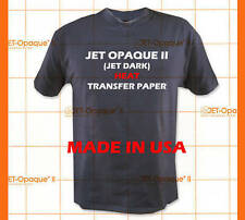 Jet Opaque II T-shirt Inkjet Dark Iron On Transfer Paper 10Pk :)