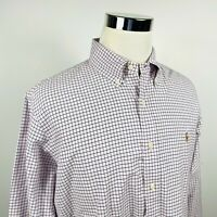 Polo Ralph Lauren Mens XL Custom Fit Recent Label Oxford Shirt Blue Pink Plaid