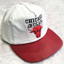 VINTAGE JEFF HAMILTON NBA CHICAGO BULLS LEATHER HAT