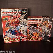 TAKARA Transformers G1 1989 Vintage C-324 STAR SABER & C-327 VICTORY LEO MIB