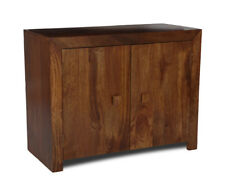 DARK DAKOTA SOLID MANGO FURNITURE 2 DOOR SIDEBOARD (43N)