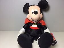 "Disney Sega Trick Or Treat Vampire Mickey Plush Stuffed Animal 15"" Tags"