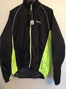 Ridge Unisex Water Resistant Cycling Jacket  Hi Viz Reflective Trim SIZES XS/S/M
