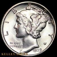 1939 Mercury Silver Dime GEM BU