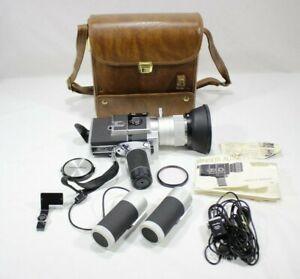 Vintage Minolta Autopak-8 D10 Super 8 Film Movie Video Camera With Accessories