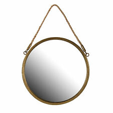 Round Nautical Port Hole Rope Bathroom Shaving Cosmetic Wall Mirror Large 30cm