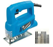 Silverline 350W Electric Jigsaw Cutter / Inc 10 Jig Blades for Wood and Metal