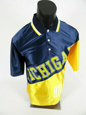 Mens Harlem Gear Poly Jersey Style T Shirt Michigan Blue and Gold Large