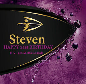 4 x PERSONALISED STRONGBOW DARK FRUITS CIDER BOTTLE LABELS - PARTY / BIRTHDAY