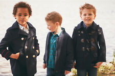 Boys Coat, Winter & Spring Coat, Navy & Camel Coat, Over Size, Monsoon, Save 60%