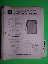 Toshiba 8p-870f service manual original repair book transistor radio 6 pages