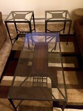 Ashley furniture glass/mosaic matching set of tables (3)!
