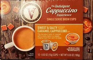 12ct - Victor Allen's Indulgent Sweet & Salty Caramel Cappuccino Single Cup