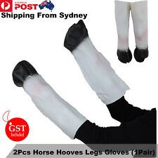 2Pcs Latex Unicorn Horse Hooves Legs Gloves Cosplay Animal Party Costume Mask