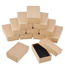 24pcs Rectangle Cardboard Jewelry Set Gift Boxes for Ring Necklace 8x5x3cm