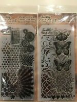 Tim Holtz Clear Acrylic Stamp & Stencil Set NEW YOU PICK