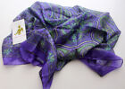 Colorful Soft Summer Floral Printed Silk Square Scarves