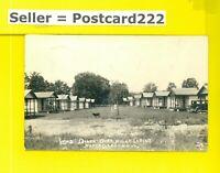 VT North Clarendon 1938 vintage RPPC real photo postcard KOZ DINER O/N CABINS