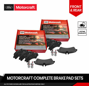 Motorcraft Front and Rear Brake Pads For Lincoln Blackwood F-150 Heritage 97-04