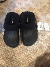 Brand New Childrens Crocs  Blitzen Polar Black Shoes junior size 2 with Tags on