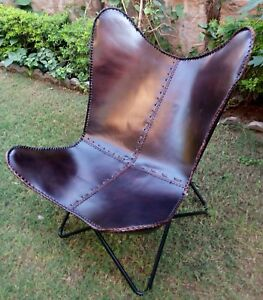 Butterfly Chair Leather Butterfly Chair With Iron Folding Home Garden Indian Art