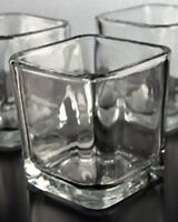 40 Frosted Glass Tealight Votive Candle holder restaurant cafe wedding table