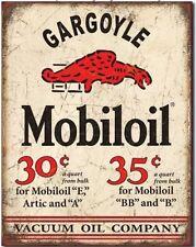 New Mobiloil Gargoyle METAL TIN SIGN Vintage Retro Style Vacuum Oil Gas Mobil