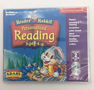 Reader Rabbit Reading The Learning Company 2 CD-ROM Set Homeschool Ages 4-6