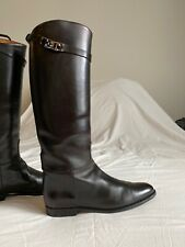 Hermes Kelly Jumping Boots Black Calf Leather Size 41.5 UK 8.5 US 11