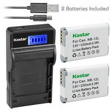 NB-12L Battery&Slim LCD Charger for Canon  PowerShot N100, PowerShot G1X Mark II