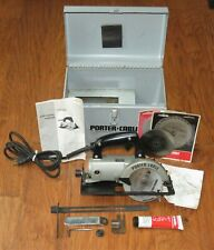 "Porter-Cable 4 1/2"" Trim Saw #314 w/case, blades, manual, lube, accessories"
