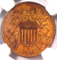 "1864 ""Small Motto"" Variety Two Cent Coin 2C - NGC Uncirculated Details (UNC MS)!"