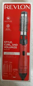 Revlon Hot Air Brush Kit Style Curl and Volumize Red. NEW
