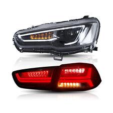 Audi Style Headlights & Tail Lights Smoked For MITSUBISHI LANCER/EVO X 2008-2017