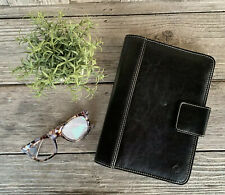 Franklin Covey Planner/Binder Unisex Black Faux Leather Magnetic Closure