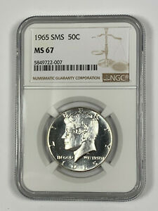 1965 SMS NGC MS67 Kennedy Half Dollar - Price Guide $70