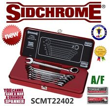 NEW SIDCHROME 7-PIECE A/F REVERSIBLE GEARED SPANNER WRENCH SET SCMT22402 RRP$288