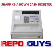 Sharp XE-A107WH Cash Register SD Card Slot+Logo/Graphics Printing+KeyLock *NEW*