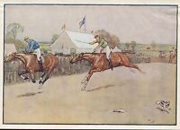 Cecil Aldin Vintage Antique Art Print-Color-Black Beauty-Horses-At Market-c1930
