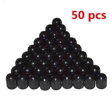 50Pcs Black Valve Caps Plastic Stems Truck Wheel Auto Tire Lid Dust Cover Tyre